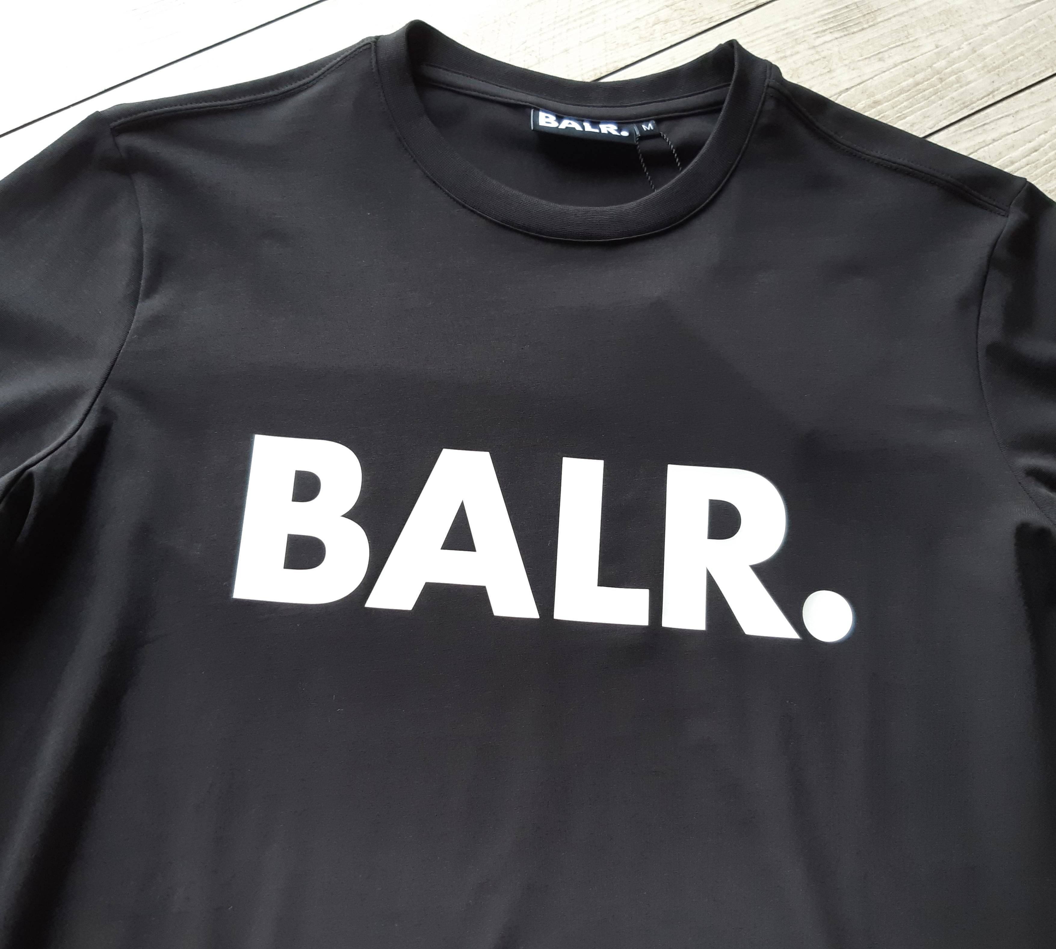 ボーラー BALR 半袖 Tシャツ クルーネック ロゴ Tシャツ BLACK B10001