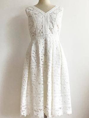 Aveniretoile アベニールエトワール ホワイト レース ノースリーブ ドレス