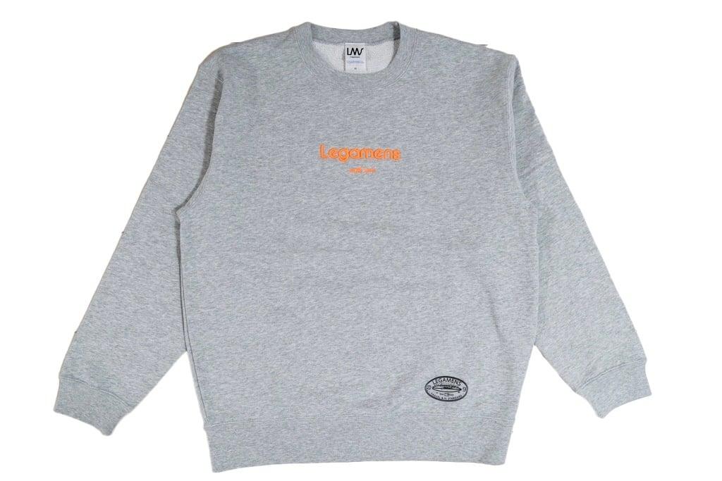 【3D logo sweat】/ gray×neon orange
