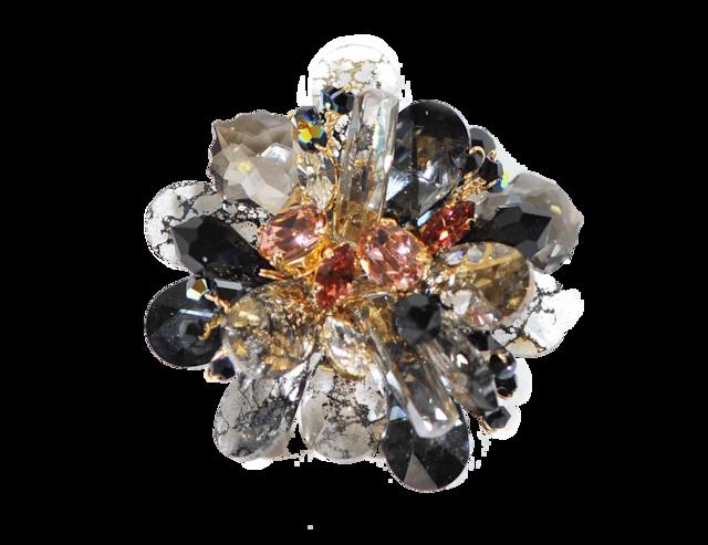 Stardust Brooch (スターダストブローチ)EMU-019-13 モノトーン