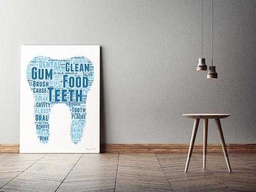 Typography キャンバスプリント(B2サイズ・木製パネル貼り)