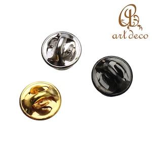 アクセサリー パーツ ピンズ バッジ 10個 円形 板付き 直径9mm [pin-9144] 丸 ハンドメイド オリジナル 材料 金具 装飾