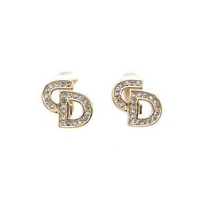 Christian Dior クリスチャン ディオール CD ストーン ミニ イヤリング ゴールド vintage ヴィンテージ オールド j7vycv