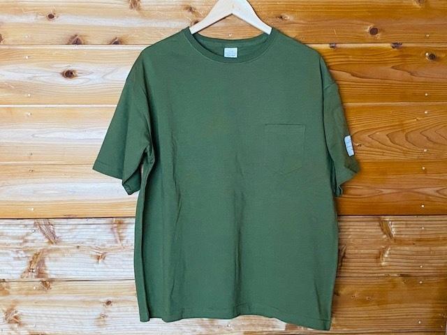 ラベル入りビッグTシャツ(カーキ)