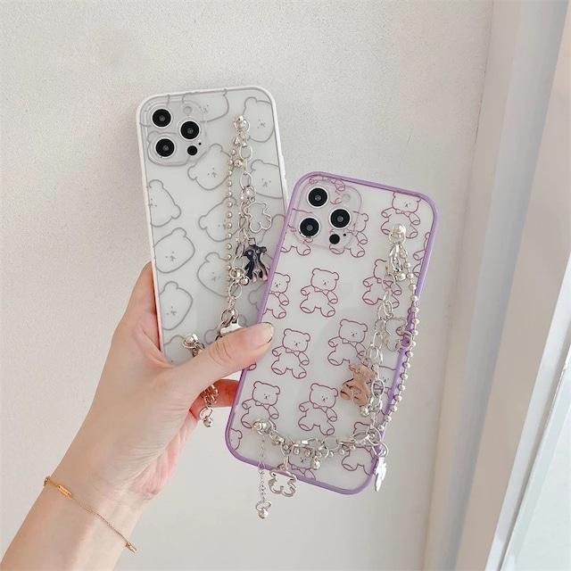 チェーン付き♪ KUMA KUMA iphone case