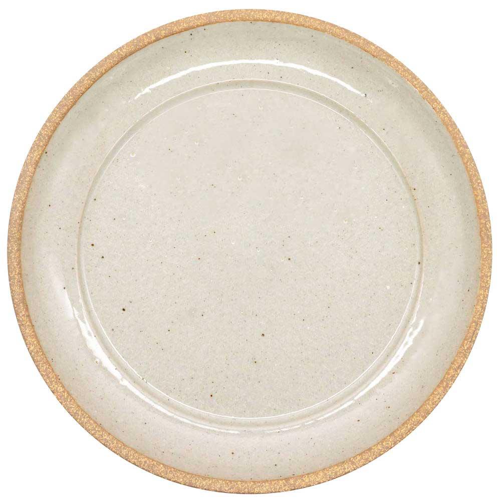 萬古焼 藍窯 ディナープレート 皿 直径26cm 「エスタ Esta」 赤土グレー AGM-200108