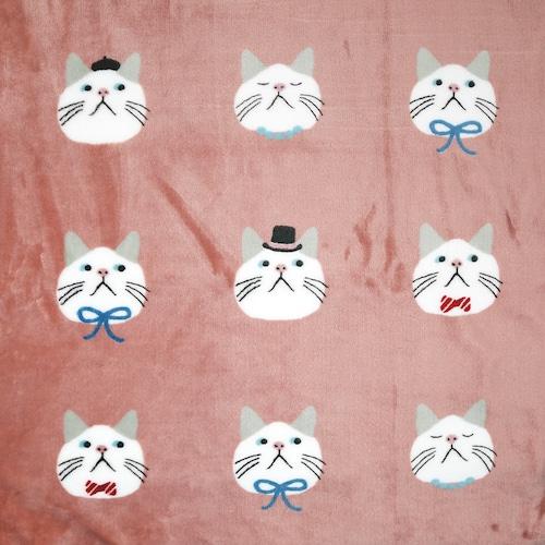 猫ブランケット(オメカシターチャンひざ掛け)ピンク
