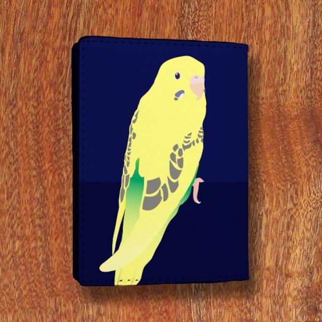 セキセイインコ 黄色ハルクイン カードケース
