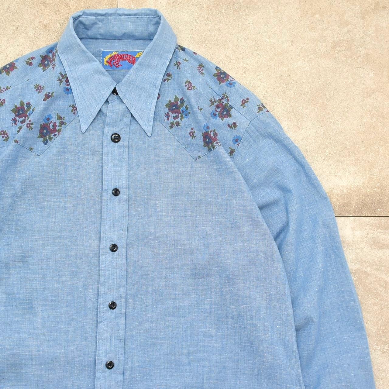 Unisex size 70's Wrangler big size chambray shirt