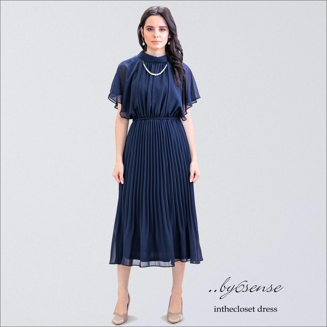 (ネイビー)2way 結婚式・セレモニー・パーティードレス ..by6senseドレス