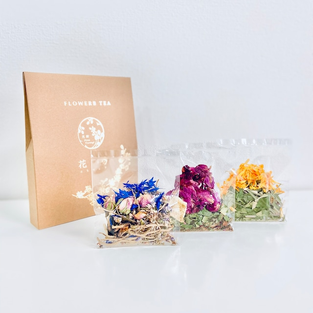 FLOWERB TEA 3 / 植物からの贈り物 ハーブティー 人気のお茶セレクト プレゼント・ギフト・お土産にもおすすめ