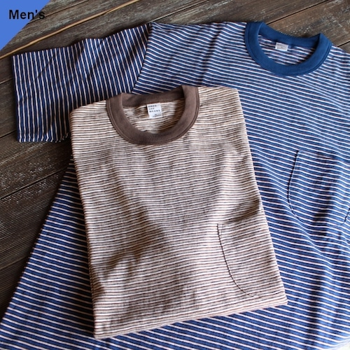 ENDS and MEANS エンズアンドミーンズ Border Pocket Tee S/S 2カラー