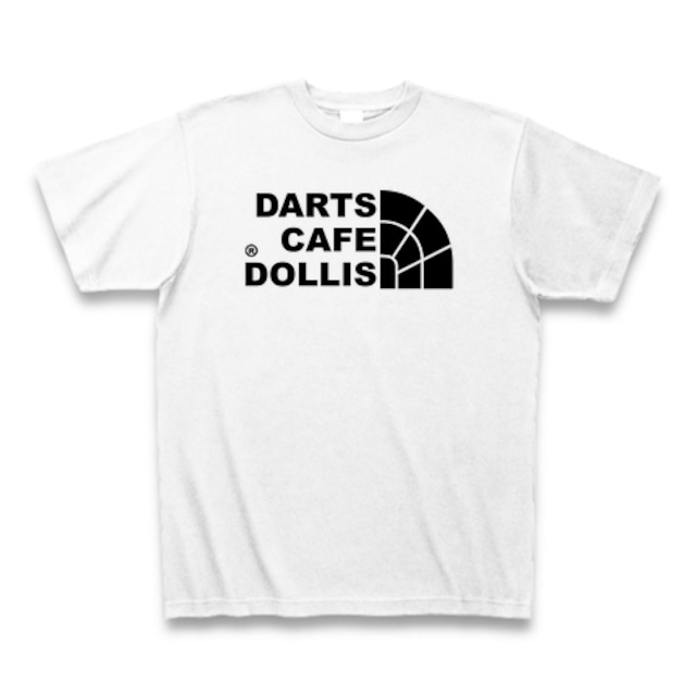 DOLLiSフェイスロゴTシャツ(白/黒)