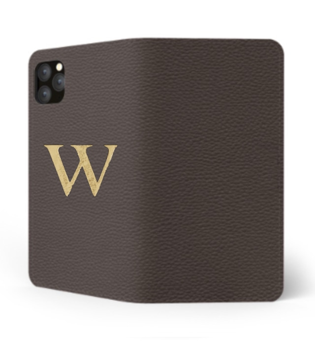 iPhone Premium Shrink Leather Case (Cigar Brown)  : Book cover Type