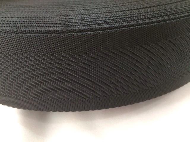 ナイロンテープ 中綾織 50mm幅 1.5mm厚 黒 1m