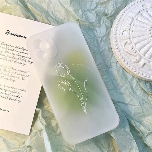 Translucent flower iphone case