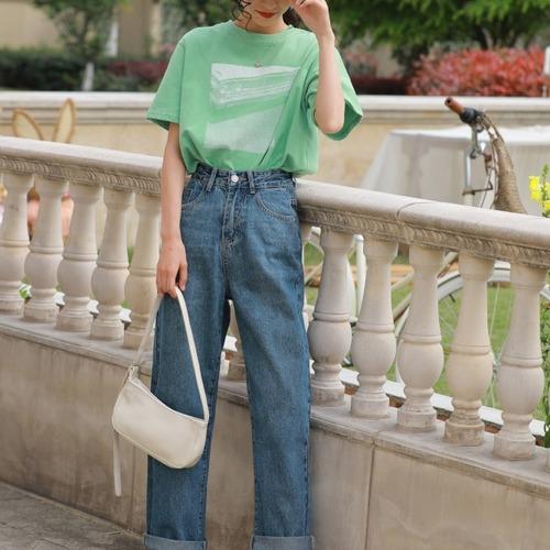 2色/レトロプリントTシャツ ・2114