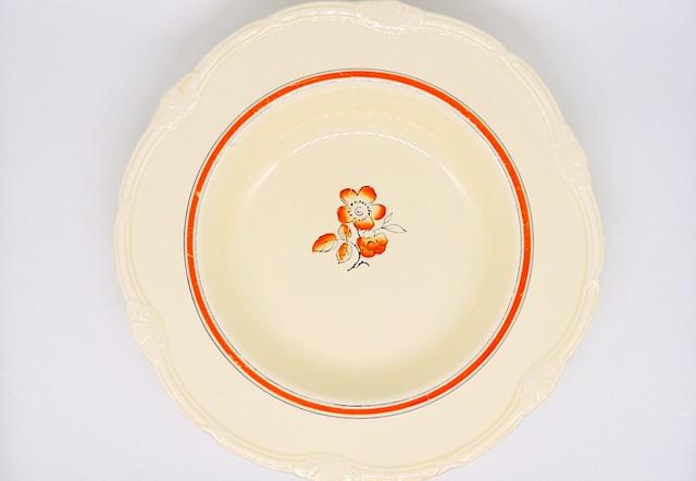 イギリス ヴィンテージ スーププレート(WH Grindley & Co)1936-54年 25cm #D002-01
