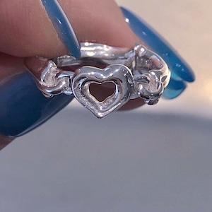 bone chain ring silver925 #1702