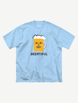 【BEERMAN】ビッグシルエットTシャツ(ストーン)