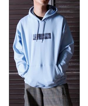 Needle Punch Box Logo PO Hoody -L.blue <LSD-BJ3T3>