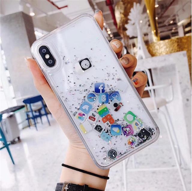 グリッター アプリ iphoneケース