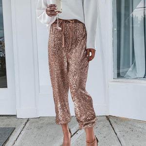 スパンコール パンツ ロングパンツ ダンス衣装 ストリート系 レディース モード系 カジュアルパンツ 大きいサイズ ゆったり メンズ 男女兼用2777