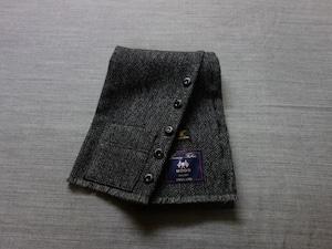 shetlandwooltweed button-muffler / mixdarkgrey