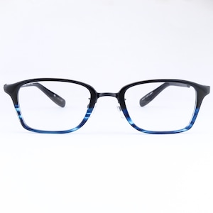 DJUAL デュアル メガネ CZ-10 / 7B セルロイド製 ブラック×ブルーササ