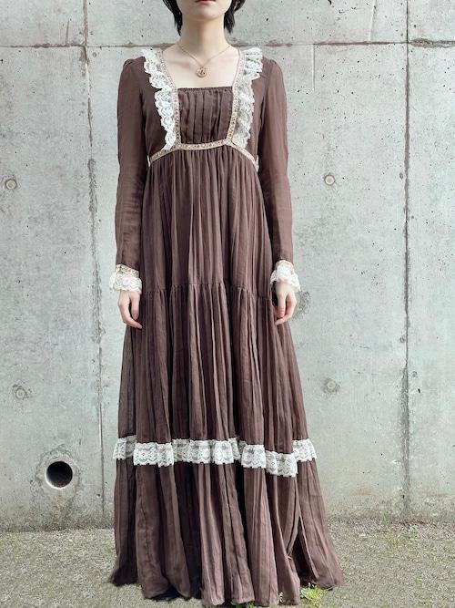 Vintage Gunne Sax Style Bohemian Dress