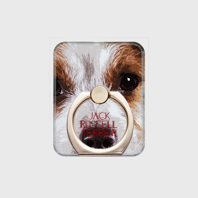 ジャックラッセルテリア おしゃれな犬スマホリング【IMPACT -color- 】