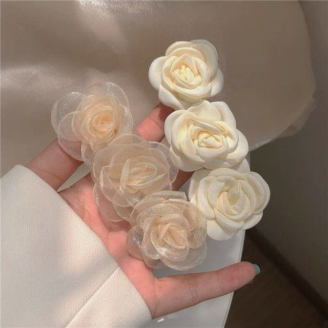 rose barrette 3type