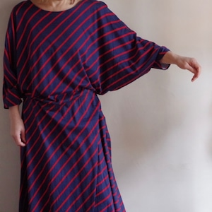 80's Dolman sleeve Dress / ドルマン スリーブ ドレス