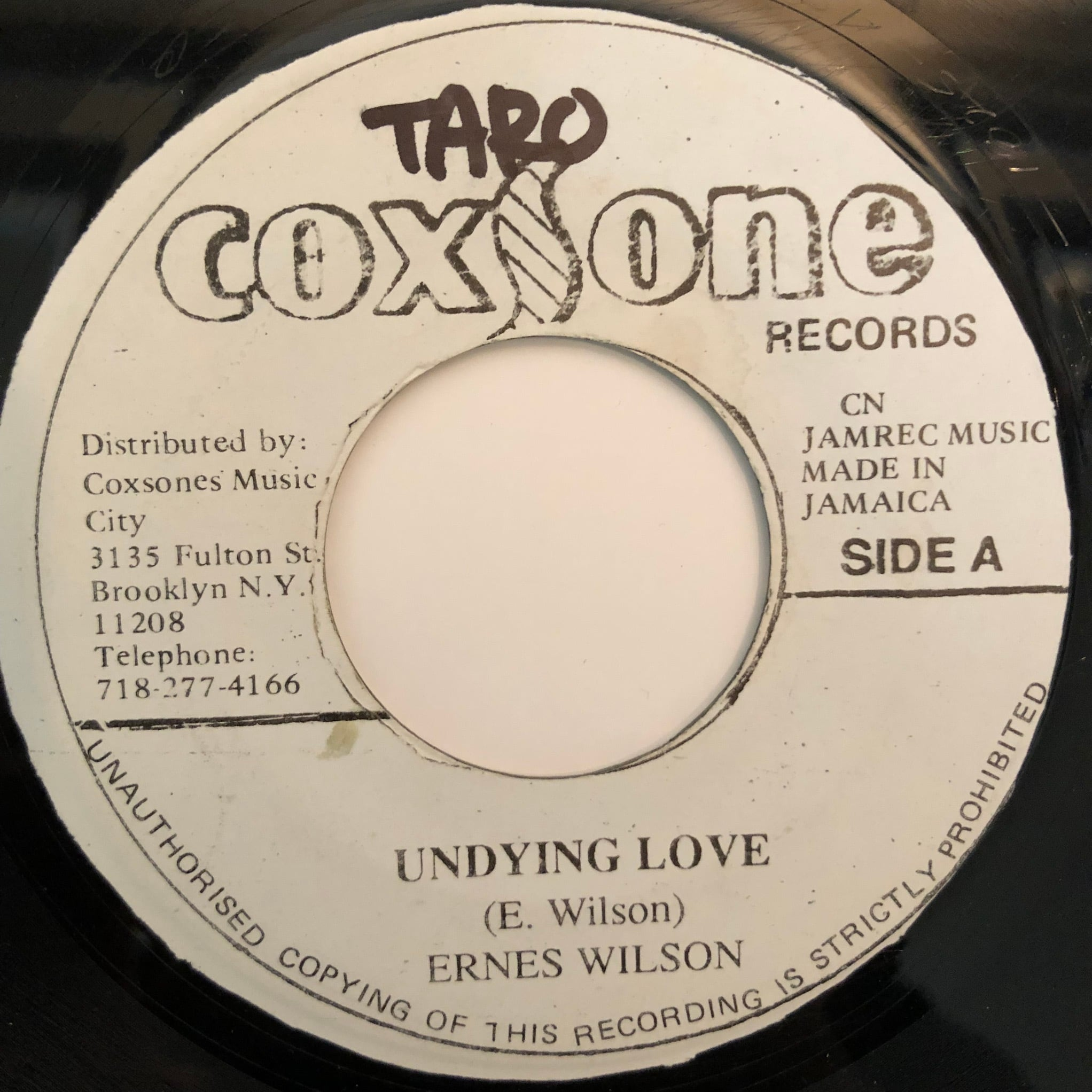 Ernest Wilson - Undying Love【7-20366】