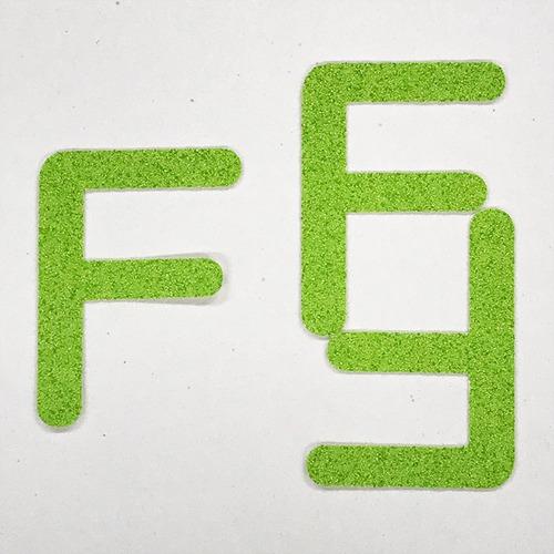 切り文字 A&Cペーパー パルプロックPBR‐006(グリーン) 粘着付 ローマ字「F」