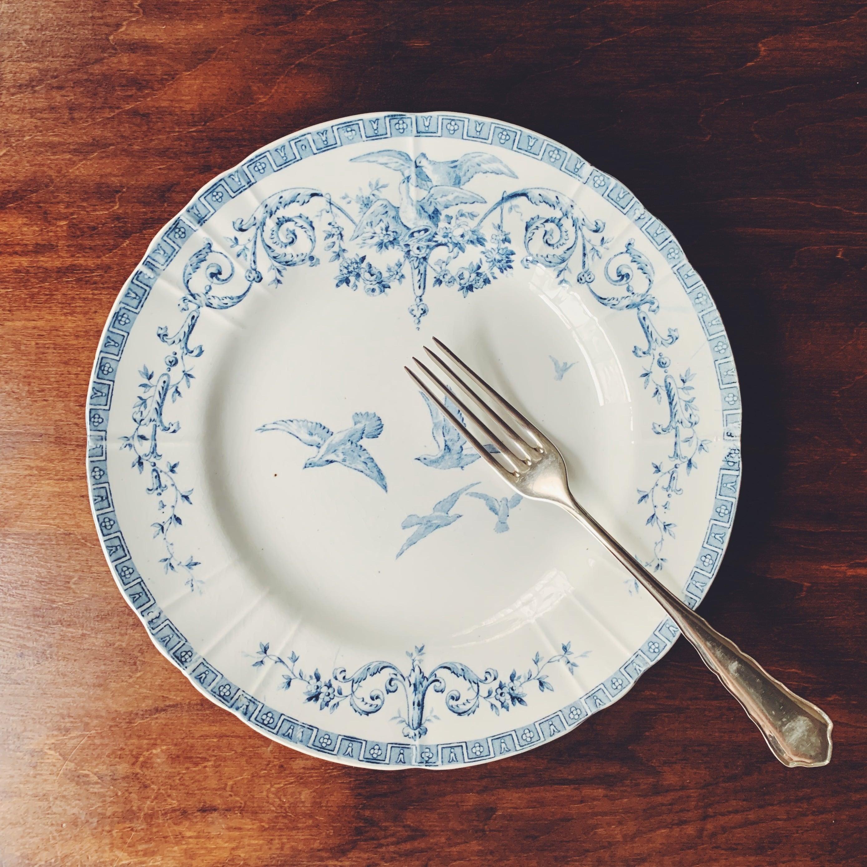 """Gien """"Marie-Antoinette"""" dinner plate ③"""