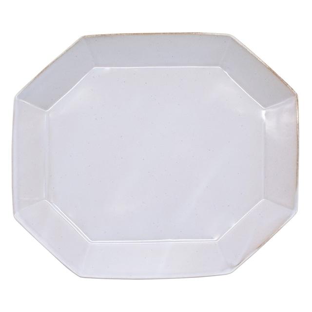 笠間焼 向山窯 ベリル プレート 皿 L 約25×22cm グレー 255763