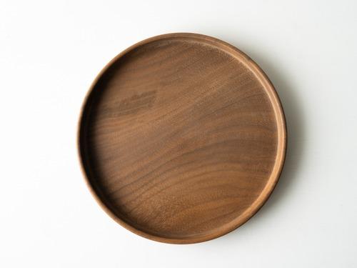 【現品限り】ウォールナット 小さな丸盆 直径20㎝ 無塗装