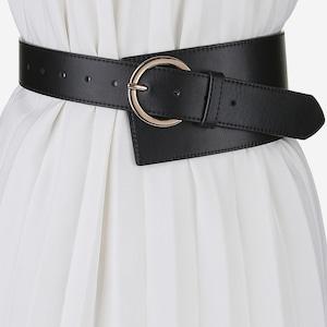 wide leather belt