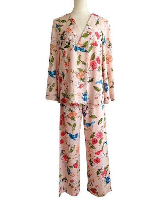 Pajama set up Jardin Pink パジャマセットアップ ジャルダンピンク