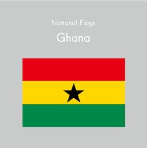 国旗ステッカー ガーナ