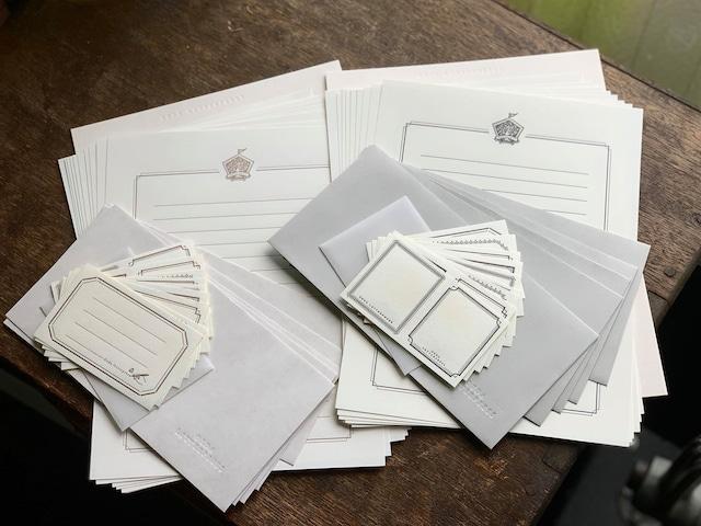 【活版印刷】Letter set  [ frame ]ブラック/ブロンズ