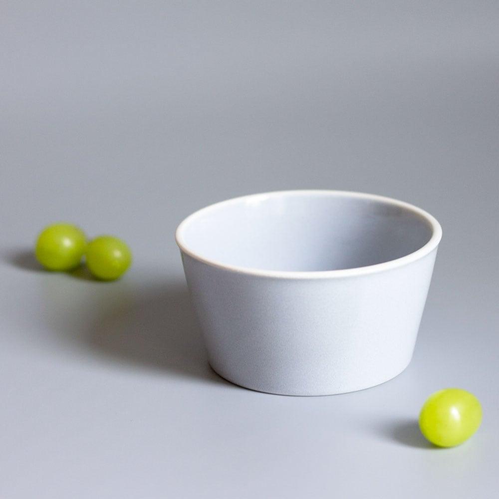 aito製作所 「シエル Ciel」きほんのうつわ 小鉢 ふた付レンジパック(キャニスター) 直径約10×深さ6cm ライトグレー 美濃焼 520131