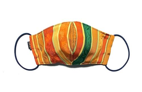 【高級留袖生地を使用 日本製】 高級和柄マスク w02