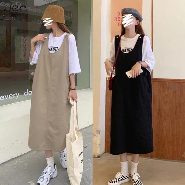 basic jumper skirt[2104-37]