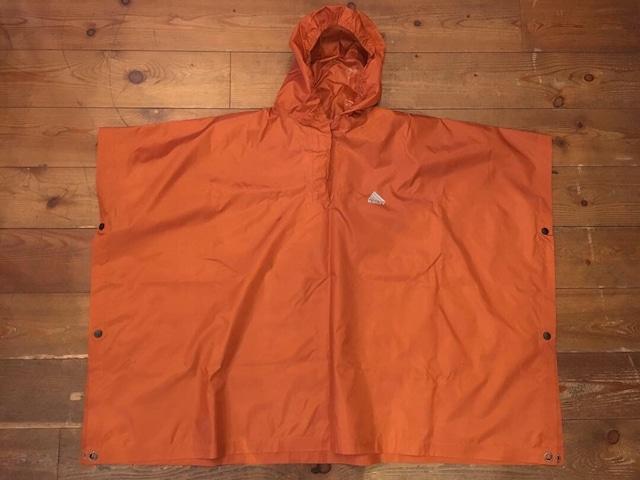 USED 美品 ケルティ レインポンチョ フリーサイズ オレンジ キッズ レディース