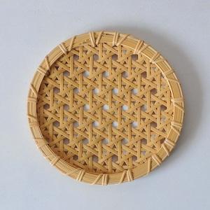 一木律子 丸皿(中)差し六つ目編み