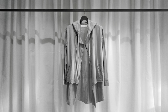 ASKYY / LAYERED HOODIE (LONG) / L.GRY
