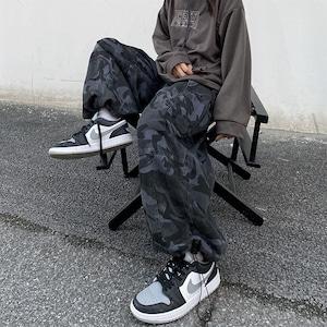 【ボトムス】ワイルド男女兼用迷彩ストリート系カジュアルパンツ52991870