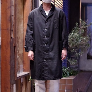 Restock!! EURO Heavy Cotton Twill Work Coat with Over Dyed / 後染め ショップコート